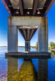Vanishing point bridge Royalty Free Stock Photos