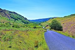Vanishing point, near Wasdale Head, Lake District, North West, England. Taken to capture the beautiful scenes of the lake district, in England, in the Golden royalty free stock photography