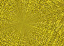 Vanishing point perspective of gold bar backgrounds Royalty Free Stock Photos