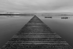 Vanishing point in a pier Royalty Free Stock Photography