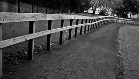 Vanishing Point Wooden Fence Stock Photography