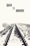 Vanishing railroad in winter Stock Photos
