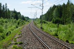 Vanishing railway tracks Royalty Free Stock Images