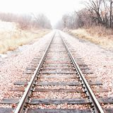 Vanishing train tracks Stock Image