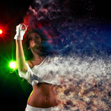 Vanishing woman dancer Royalty Free Stock Photo