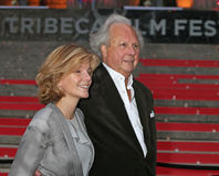 Vanity Fair Party for 14th Tribeca Film Festival. Anna Scott and husband Graydon Carter, publisher of Vanity Fair, arrive on the red carpet at the New York State Stock Photos