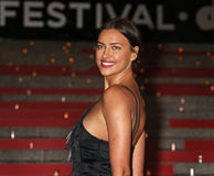 Vanity Fair Party for 14th Tribeca Film Festival. Supermodel Irina Shayk arrives on the red carpet at the New York State Supreme Court building at 60 Centre royalty free stock photo