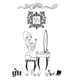 Vanity Girl Stock Images
