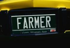 Vanity license plate Stock Photo