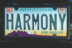 Vanity License Plate - Arizona Royalty Free Stock Images