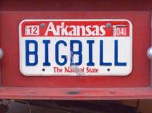 Vanity License Plate - Arkansas Stock Photo