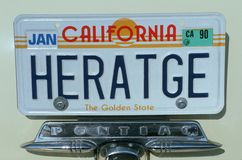 Vanity License Plate - California Stock Photo