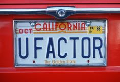 Vanity License Plate - California Stock Images