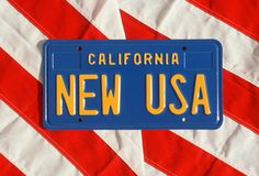 Vanity License Plate - California Royalty Free Stock Photos