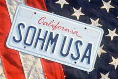 Vanity License Plate - California Royalty Free Stock Images
