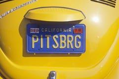 Vanity License Plate - California Stock Photos