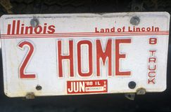 Vanity License Plate - Illinois stock photography