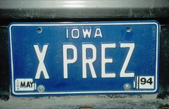 Vanity License Plate - Iowa Royalty Free Stock Photos
