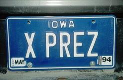 Vanity License Plate - Iowa Royalty Free Stock Photos