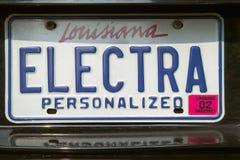Vanity License Plate - Louisiana Royalty Free Stock Photo