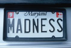 Vanity License Plate - Maryland Stock Images