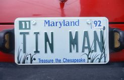 Vanity License Plate - Maryland Stock Photo