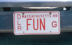 Vanity License Plate - Massachusetts Stock Photos
