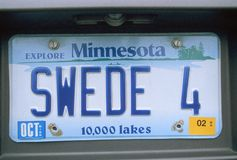 Vanity License Plate - Minnesota Royalty Free Stock Image