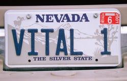 Vanity License Plate - Nevada Stock Photos
