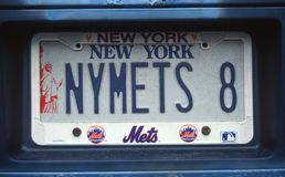Vanity License Plate - New York Stock Image