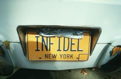 Vanity License Plate - New York Royalty Free Stock Images