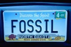 Vanity License Plate - North Dakota Royalty Free Stock Images