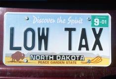 Vanity License Plate - North Dakota Royalty Free Stock Photo