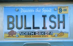 Vanity License Plate - North Dakota Stock Photos