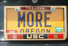 Vanity License Plate - Oregon Stock Photos