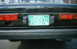 Vanity License Plate - Vermont Royalty Free Stock Images