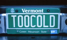 Vanity License Plate - Vermont Stock Image