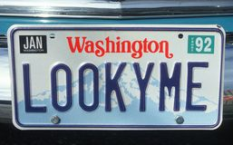 Vanity License Plate - Washington Royalty Free Stock Photos