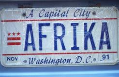 Vanity License Plate - Washington, DC Stock Photography