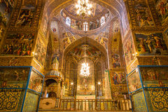 Vank Cathedral. Also known the Church of the Saintly Sisters, is a cathedral located in the New Julfa district of Isfahan, Iran Stock Photography