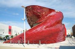 Vanke Chinese pavillion Expo Milaan 2015 Royalty-vrije Stock Foto