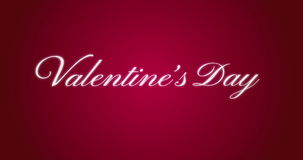 Vanlentine's Day animation text with sparkling particles stock video