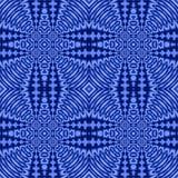 Vanlig futuristisk diamantmodell i sömlösa blåa skuggor stock illustrationer