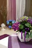 Vanlig hortensia som dekorerar vardagsrum arkivfoton