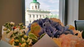 Vanlig hortensiabukettkomplement din favorit fotografering för bildbyråer