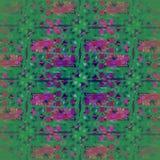Vanlig invecklad purpurfärgad modellgräsplan och centrerat violett stock illustrationer