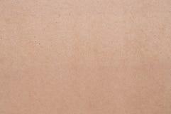 Vanlig papptextur, brunt för pappers- ask Royaltyfria Foton