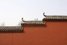 vanlig röd vägg Arkivfoto