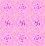 Vanlig sömlös rund rosa violett magentafärgad vit för stjärnamodell royaltyfri illustrationer