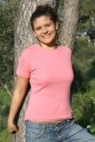 vanlig skjorta t för flicka Arkivbild